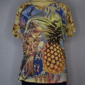 Venezia Jeans | Yellow Hawaiian Pineapple Tee 14